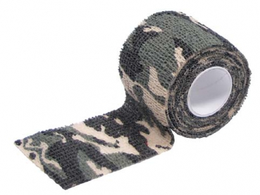 Tarnband woodland camouflage selbsthaftend 5 cm x 4,5 m