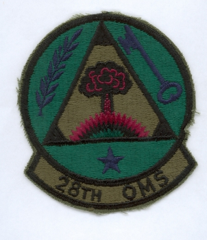 USAF US Air Force 28th OMS patch Abzeichen