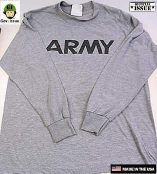 US ARMY Long Sleeve PT Shirt