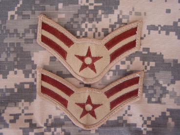 Airman First Class RANK USAF DESERT Uniform PATCHES