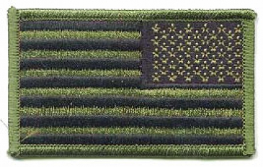 US Army Reversed American Flag patch Abzeichen oliv OD Green