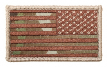 AMERICAN FLAGS MULTICAM - REVERSED Velcro patch