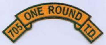 705th ONE ROUND TANK DESTROYER TAB