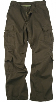 BROWN CAMO VINTAGE PARATROOPER FATIGUES PANTS
