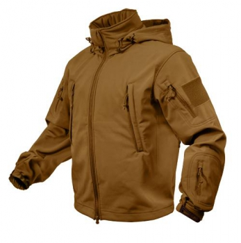 SPECIAL OPS TACTICAL SOFT SHELL FLEECE JACKE COYOTE BROWN