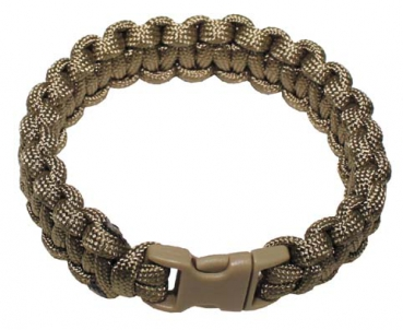 Paracord Armband coyote tan Breite 1,9 cm