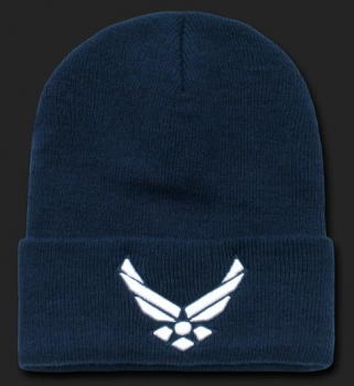 United States Airforce WING Classic Military Long Beanie