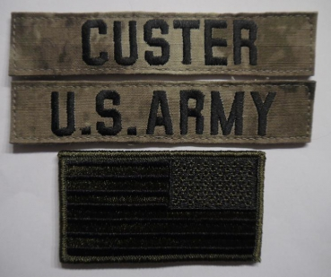 A-TACS US ARMY Name set CUSTER mit US Flagge