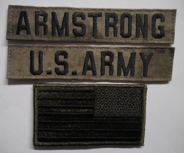 A-TACS US ARMY Name set ARMSTRONG mit US Flagge