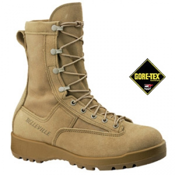 US Army BELLEVILLE 790ST DES Waterproof GORETEX Tan Combat and Flight Boot
