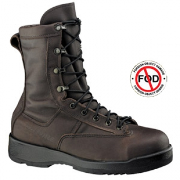 BELLEVILLE US NAVY Marines 330 ST - Wet Weather Chocolate Brown Safety Toe Flight Boot