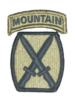 10th Mountain Division MULTICAM OCP patch