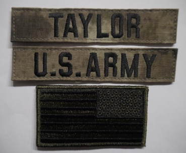 A-TACS US ARMY Name set TAYLOR mit US Flagge
