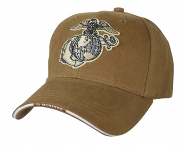 US MARINES EAG GLOBE & ANCHOR - COYOTE
