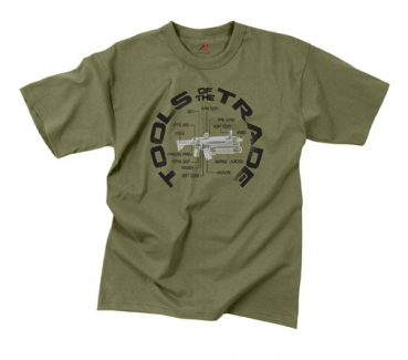 "VINTAGE ""TOOLS OF THE TRADE"" T-SHIRT - OD GREEN"