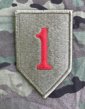 US Army 1st Infantry Division BIG RED ONE Multicam Scorpion OCP Klettpatch