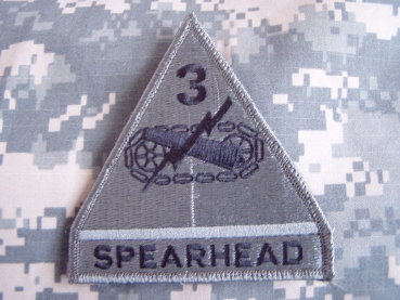 "3rd Armor Division ""SPEARHEAD"" ACU Velcro Patch"