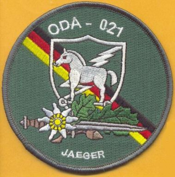 "ODA 021 Airborne 1st BN 10th Special Forces Europe ""JAEGER"" patch"