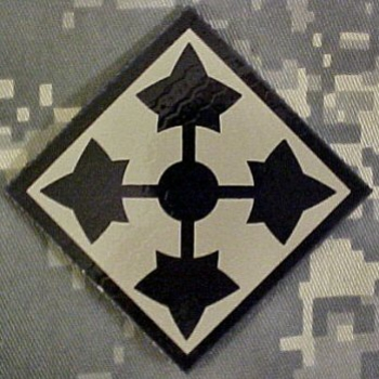 "4th Infantry Division "" IVY "" IR INFRA RED REFLECTIVE patch"