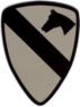"1st Cavalry Division ""THE FIRST TEAM"" ACU IR INFRARED REFLECTIVE"