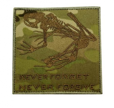 "NAVY SEAL SKULL FROG MULTICAM OCP PATCH ""NEVER FORGET, NEVER FORGIVE"""