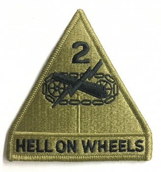 2nd Armor Division Hell on Wheels Multicam Scorpion patch