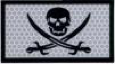 WHITE CALICO  JACK ACU IR INFRARED REFLECTIVE patch
