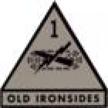1st Armored Division OLD IRONSIDES IR Infrared Velcro Abzeichen