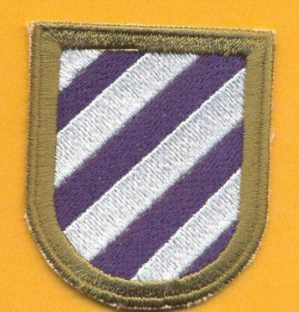 3rd Infantry Division HQ Non Airborne Beret flash