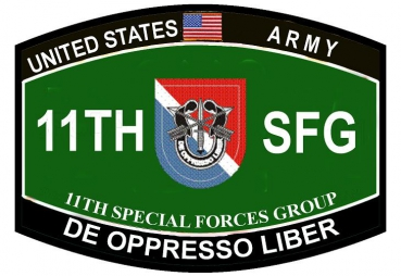 11th Special Forces Group De Oppresso Liber Military Patch