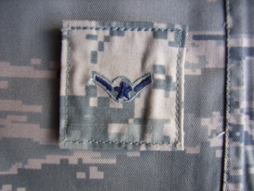 Airman E-2 US Airforce ABU Velcro Rank Digital Uniform Insignia Abzeichen