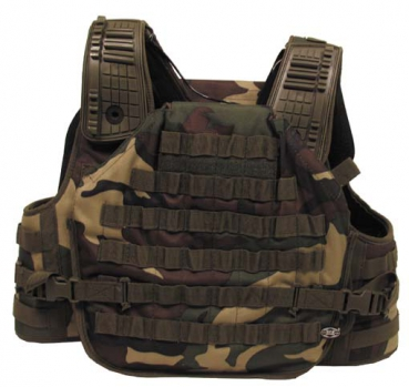 Tactical Armor Modular System Weste woodland camouflage