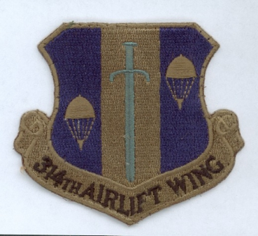 314th Airlift Wing USAF Uniform Abzeichen patch