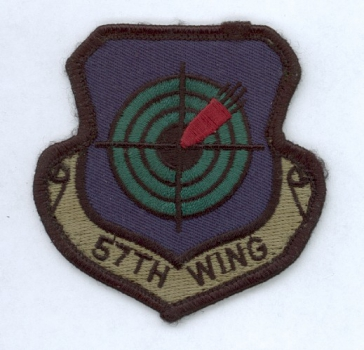 57th Tactical Training Wing USAF Uniform Abzeichen patch