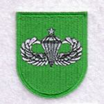 10th SFG Beret Flash Senior Airborne Wings Patch