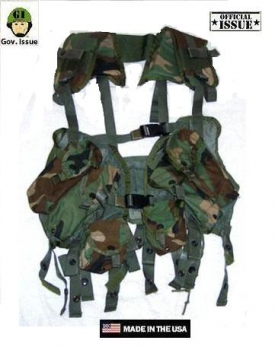 US ARMY TACTICAL ENHANCED LOAD BEARING VEST LBV WOODLAND CAMOUFLAGE