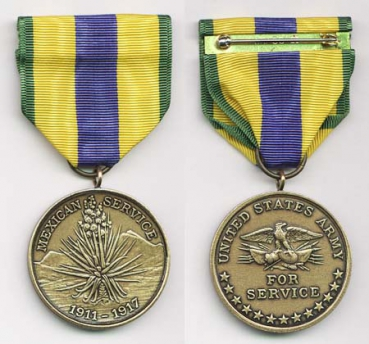 US Army Mexican Service Medal Uniform Orden