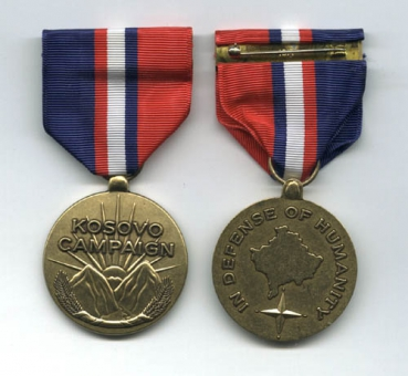 US Army Campaign Medal for Troops in Kosovo Uniform Orden