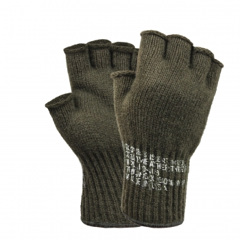 US Army Fingerless Wool Gloves Oliv Drab