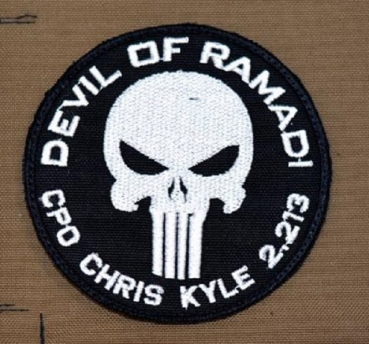 'Devil of Ramadi' Chris Kyle 2013 Velcro patch