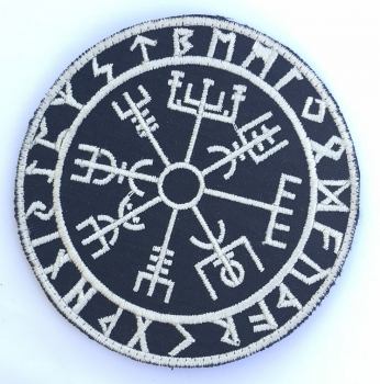 Vegvisir Viking Compass Klett patch