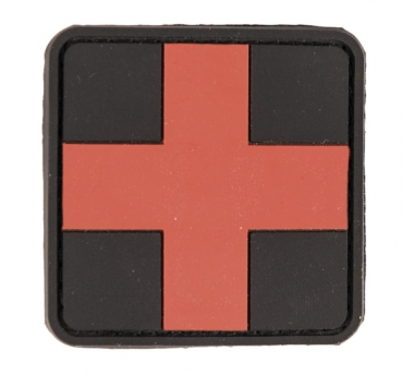 3D FIRST AID PVC PATCH MIT KLETT BLACK / RED