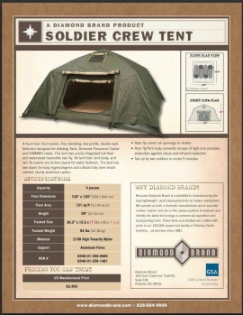 US Army SCT Soldier Crewman Tent