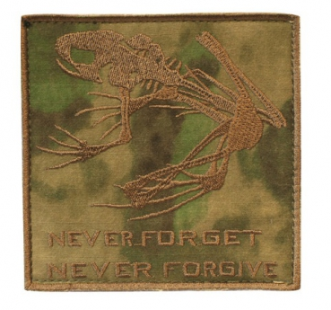 "NAVY SEAL SKULL FROG A-TACS FG PATCH ""NEVER FORGET, NEVER FORGIVE"