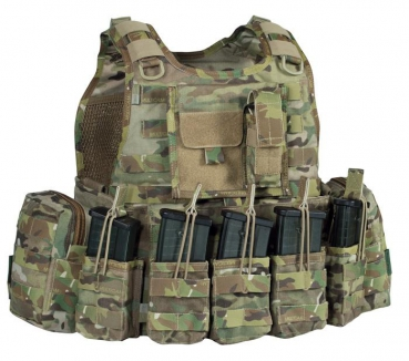 Warrior Elite Ops Ricas Compact Plattenträger in G36 Konfiguration Multicam