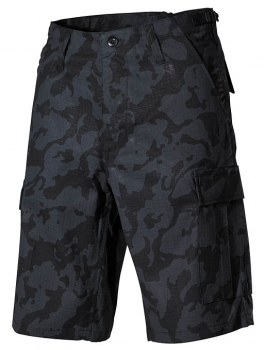 US BDU Bermuda Rip Stop night-camo