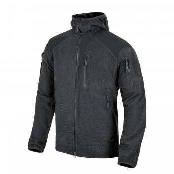 Helikon Tex ALPHA HOODIE Jacket - Grid Fleece - Black