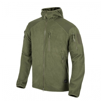 Helikon Tex ALPHA HOODIE Jacket - Grid Fleece - Oliv