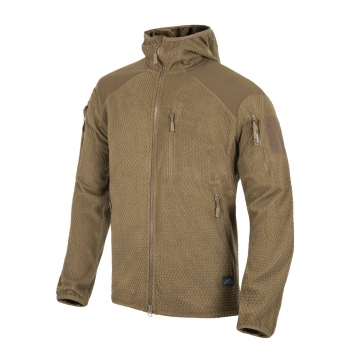 Helikon Tex ALPHA HOODIE Jacket - Grid Fleece - Coyote