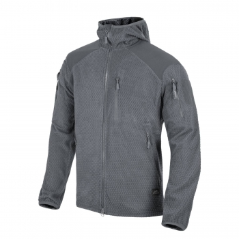 Helikon Tex ALPHA HOODIE Jacket - Grid Fleece - Shadow Grey
